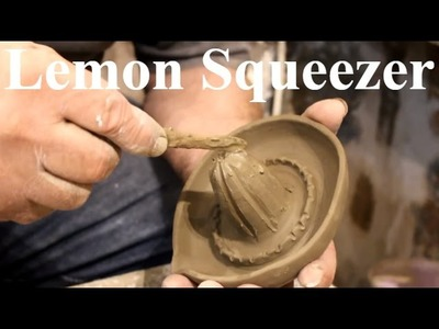 Pottery throwing - How to Make a Pottery lemon Juicer Squeezer #36