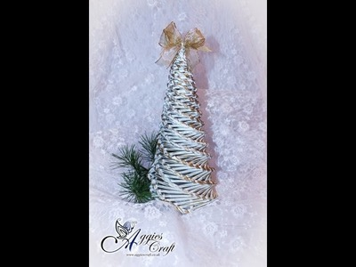 Wicker Paper Tutorial - Christmas Tree
