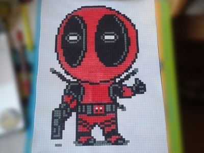 Deadpool Pen and Paper Pixel Art Stop Motion Speed art