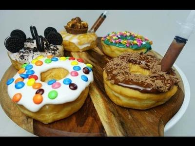 DIY DESIGNER DONUTS  (nutella, oreo, m&m) - CookingwithKarma
