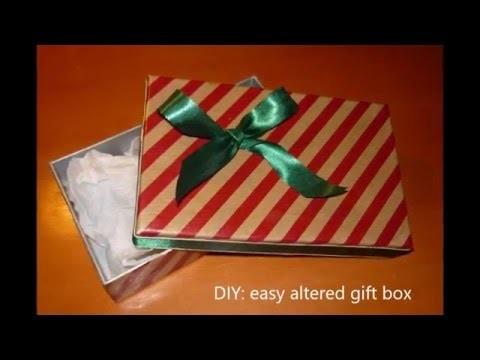 DIY easy altered gift box for fragile items, step by step