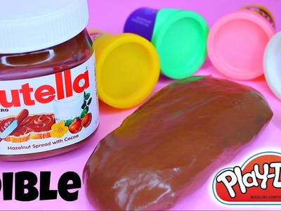 DIY How To Make Edible NUTELLA PLAYDOUGH - DIY PLAYDOH RECIPE