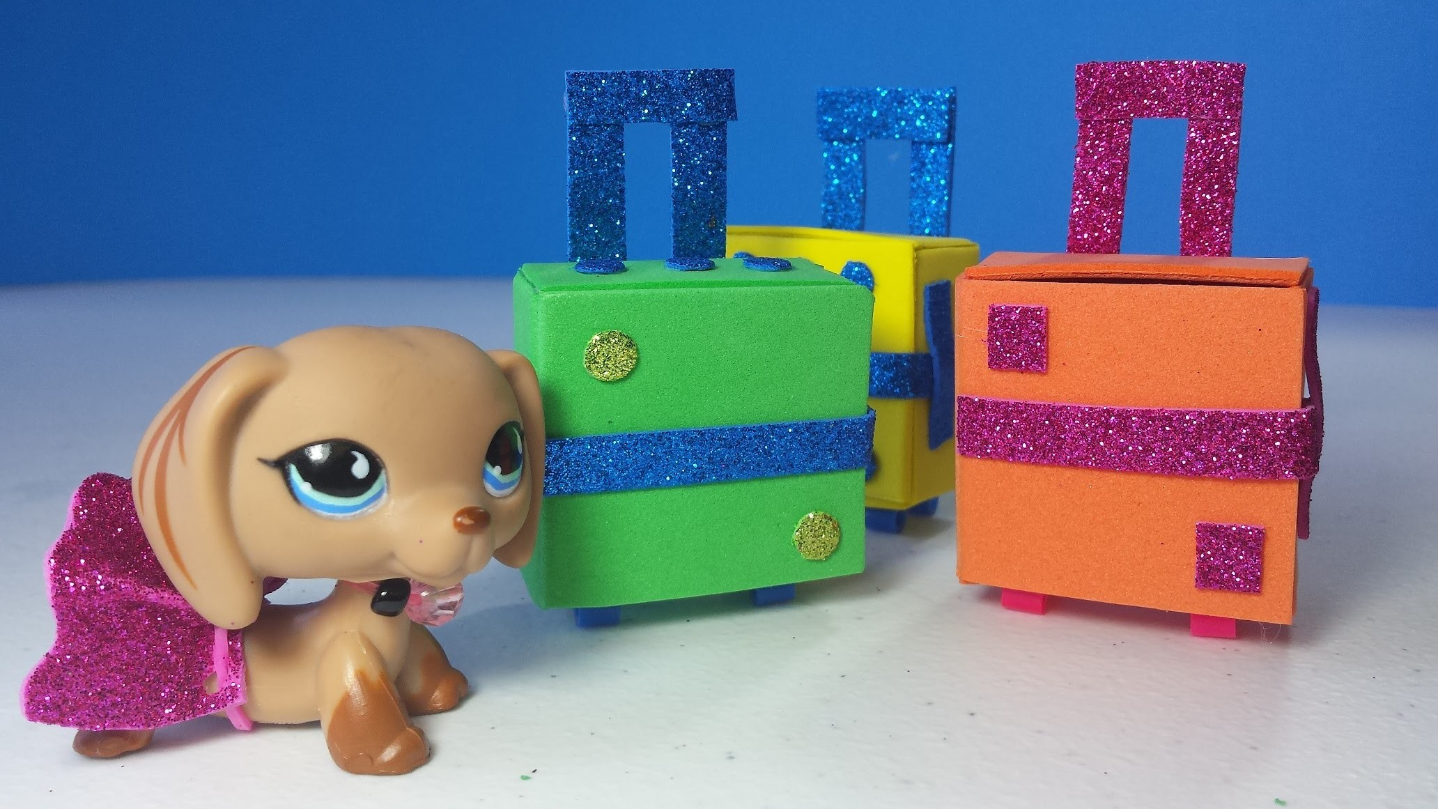 DIY LPS or MLP Doll Suitcases - Luggage