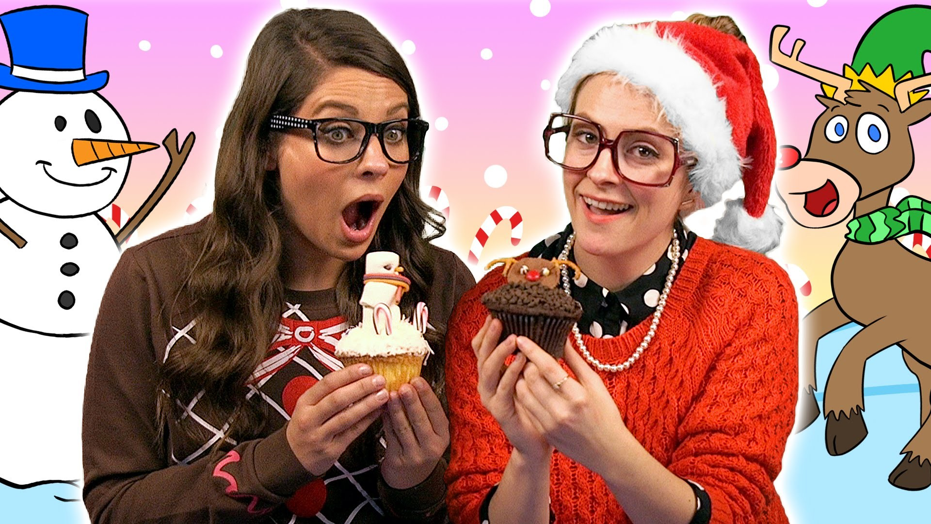DIY Reindeer & Snowman Cupcakes - Edible Craft | A Cool School Craft with Crafty Carol & Ms. Booksy