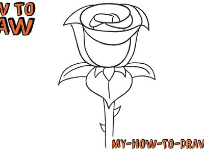 How to draw a Rose - Easy step-by-step drawing tutorial