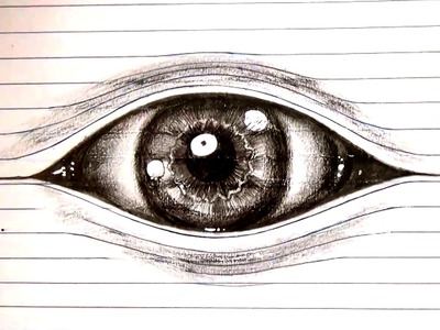 ✦how to draw an eye ✦ Optical illusion Drawing on lined paper