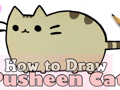 How to Draw PUSHEEN CAT • Collab. with FimoKawaiiEmotions