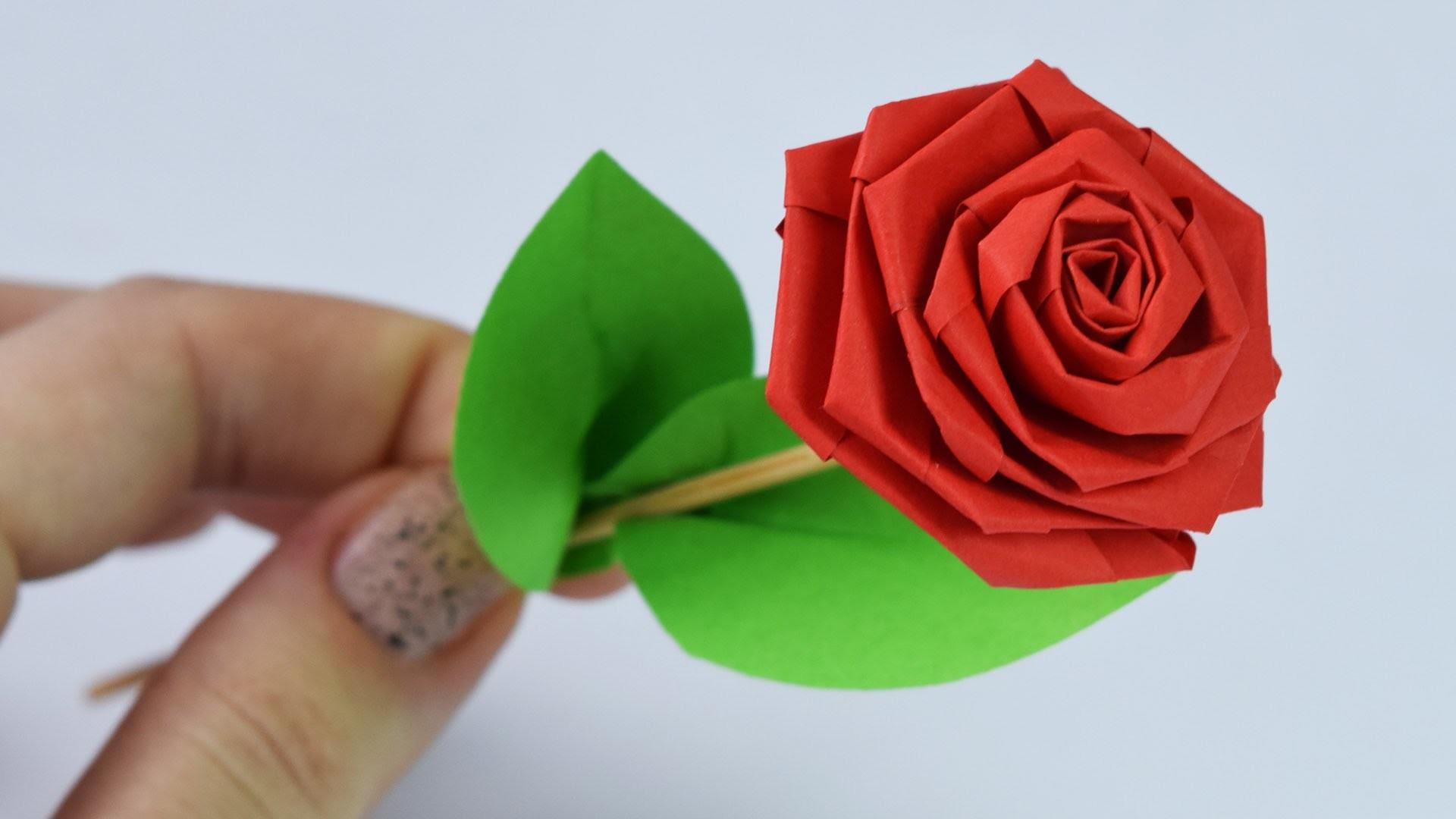Как из простой бумаги сделать розу