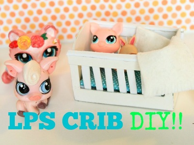 How to make an EASY LPS crib | How to make EASY doll crib