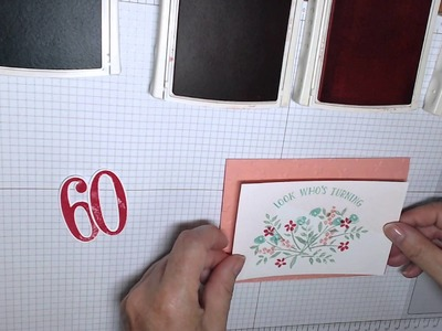 How to use Framelits: Number of Years. Stampin' Up! Australia