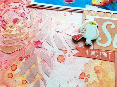 Mixed Media Scrapbooking Process- Shimmerz & Crate Paper Wonder