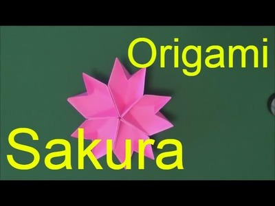 Origami flower easy Sakura - Paper flower making