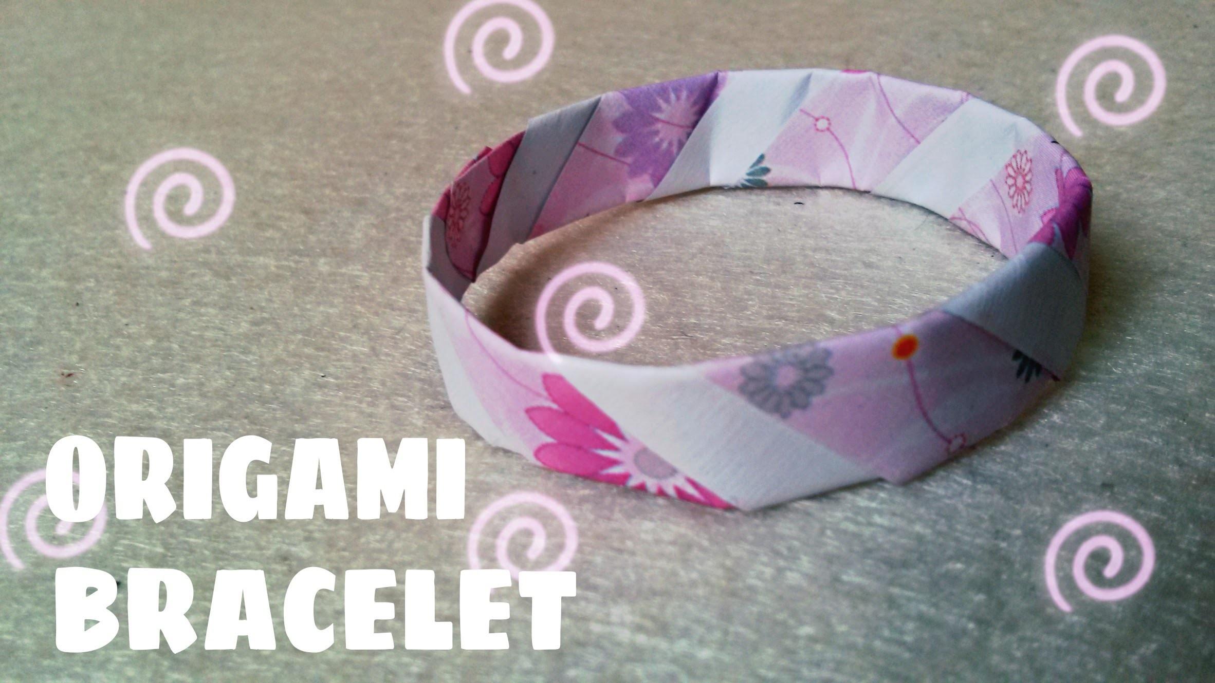 Origami for Kids - Origami Bracelet - Paper Bracelet