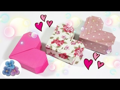 Origami Heart Box Valentine's Day Heart box - Paper Heart and Gift box Mathie