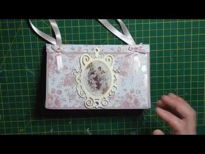 Paper folded handbag tutorial