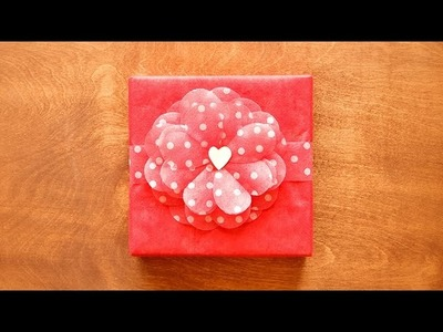 Valentine Paper Flower with Heart-Shaped Petals