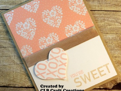 2016 Stampin' Up! You're Sweet Alternate Paper Pumpkin Card
