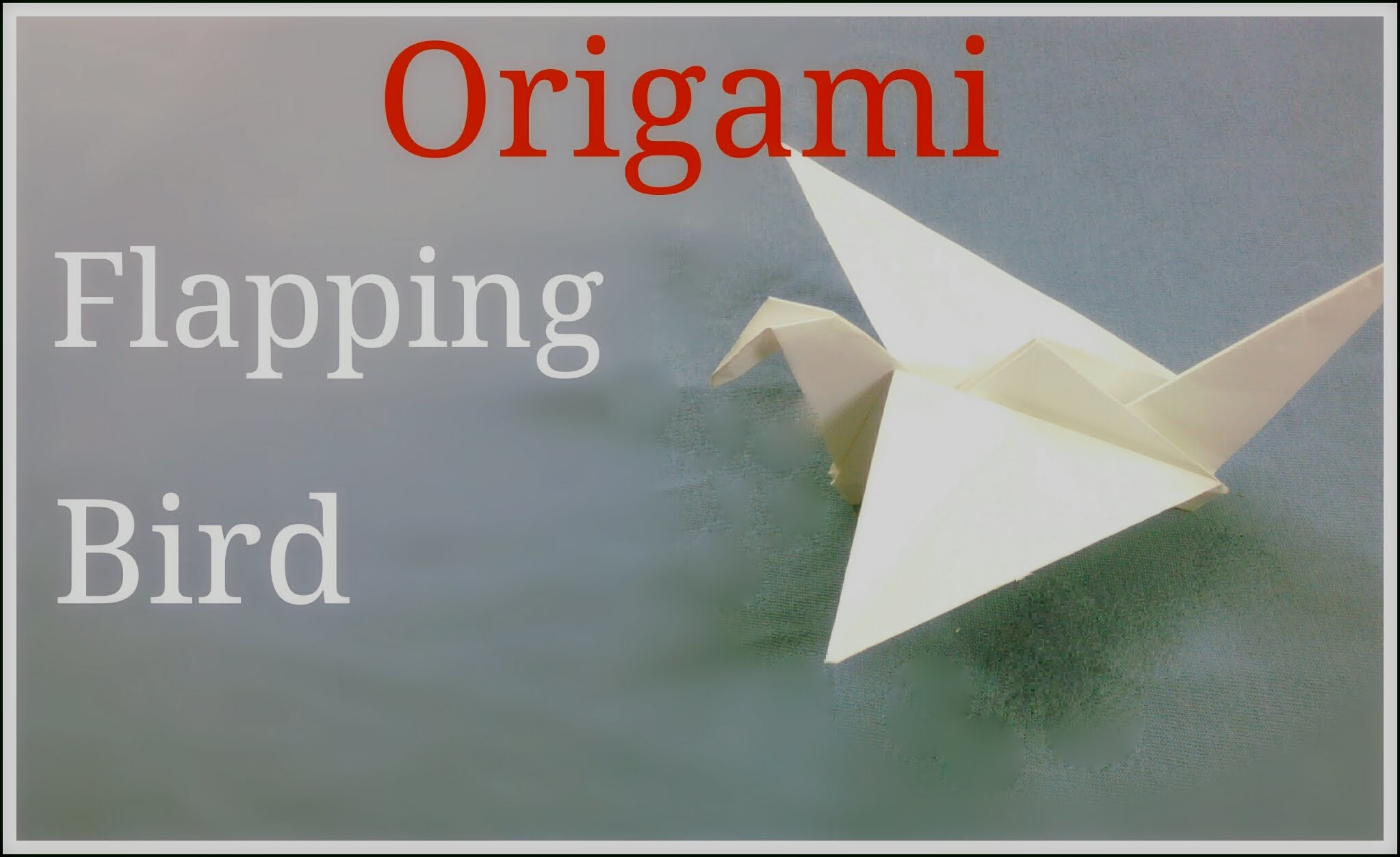 Craft of paper flapping bird origami