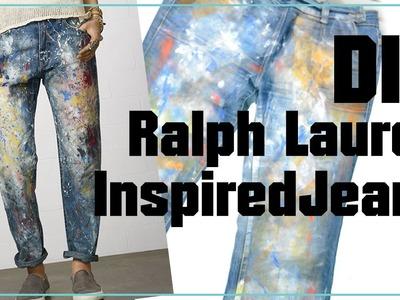 DIY Ralph Lauren inspired jeans