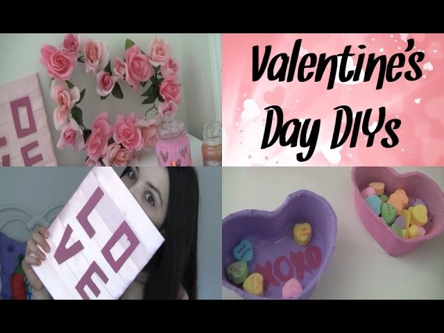 DIY Valentine's Day Room Decor + Gifts! (Tumblr.Pinterest Crafts)