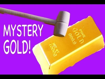 GIANT MYSTERY SURPRISE DIY GOLD or Rock ? Kids Dig It Huge Surprise Chubby Puppies Dog Park