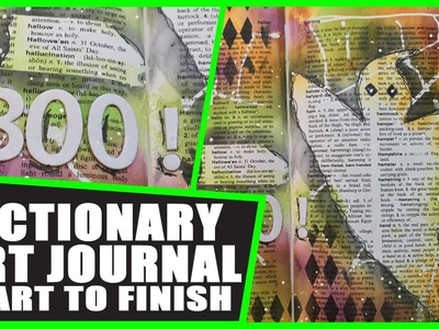 How to:Dictionary Art Journal - Halloween