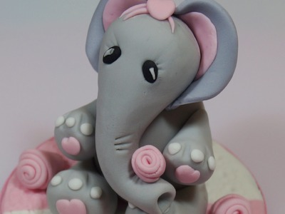 How To Make A Fondant Elephant Cake Topper - Max's Cake Studio