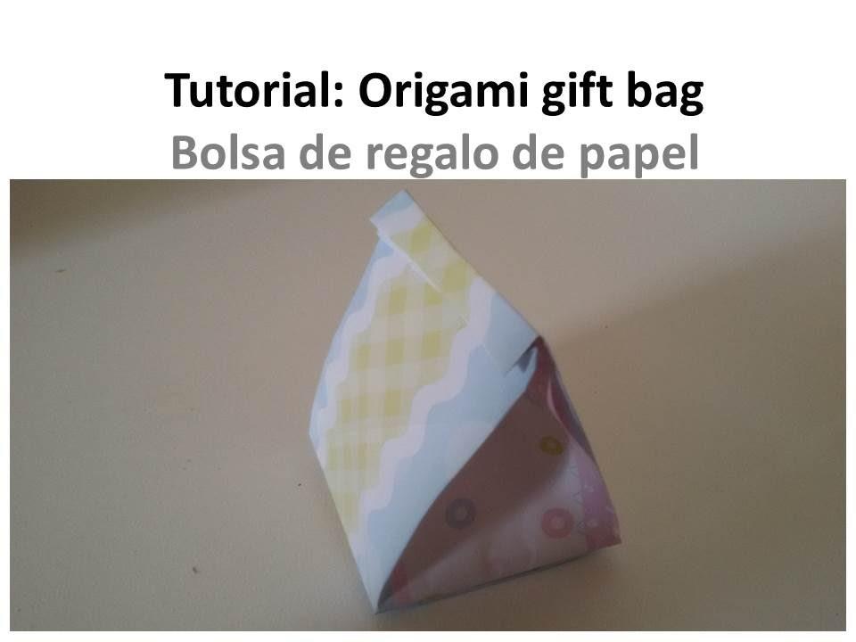How to make an origami Gift Bag - Cómo hacer una bolsa de papel para regalo