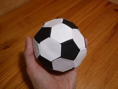 How to make origami soccer ball at home