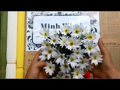 Daisy paper flower - Làm cúc họa mi từ giấy nhún
