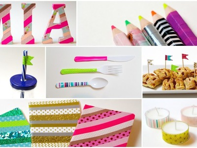 DIY - 15 WAYS TO USE WASHI TAPE