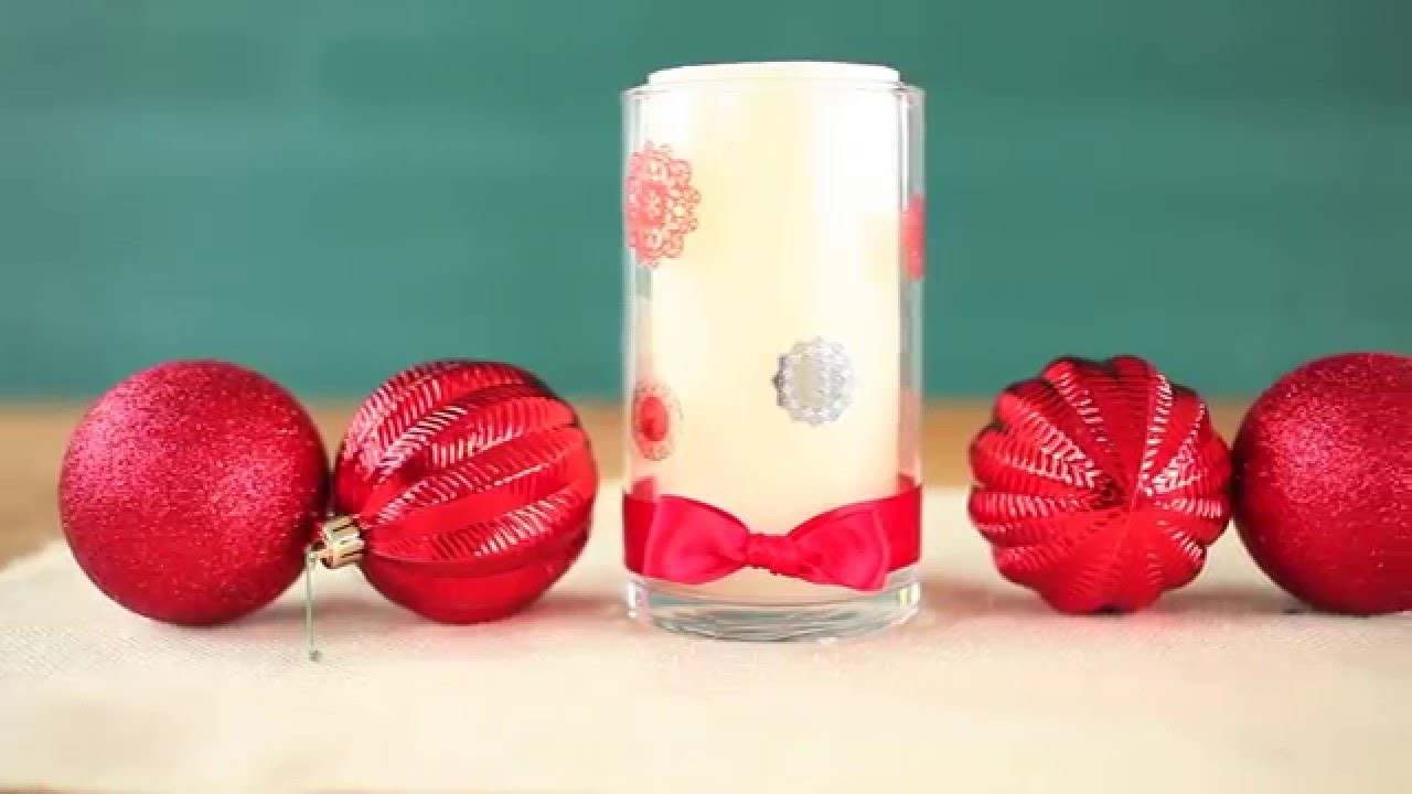 Festive DIY Candle Holder for the Holidays