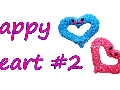 Happy Heart #2 Tutorial by feelinspiffy (Rainbow Loom)