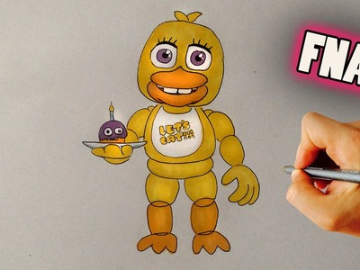 How to Draw adventure Chica - Five Nights at Freddy's World - Video Lesson