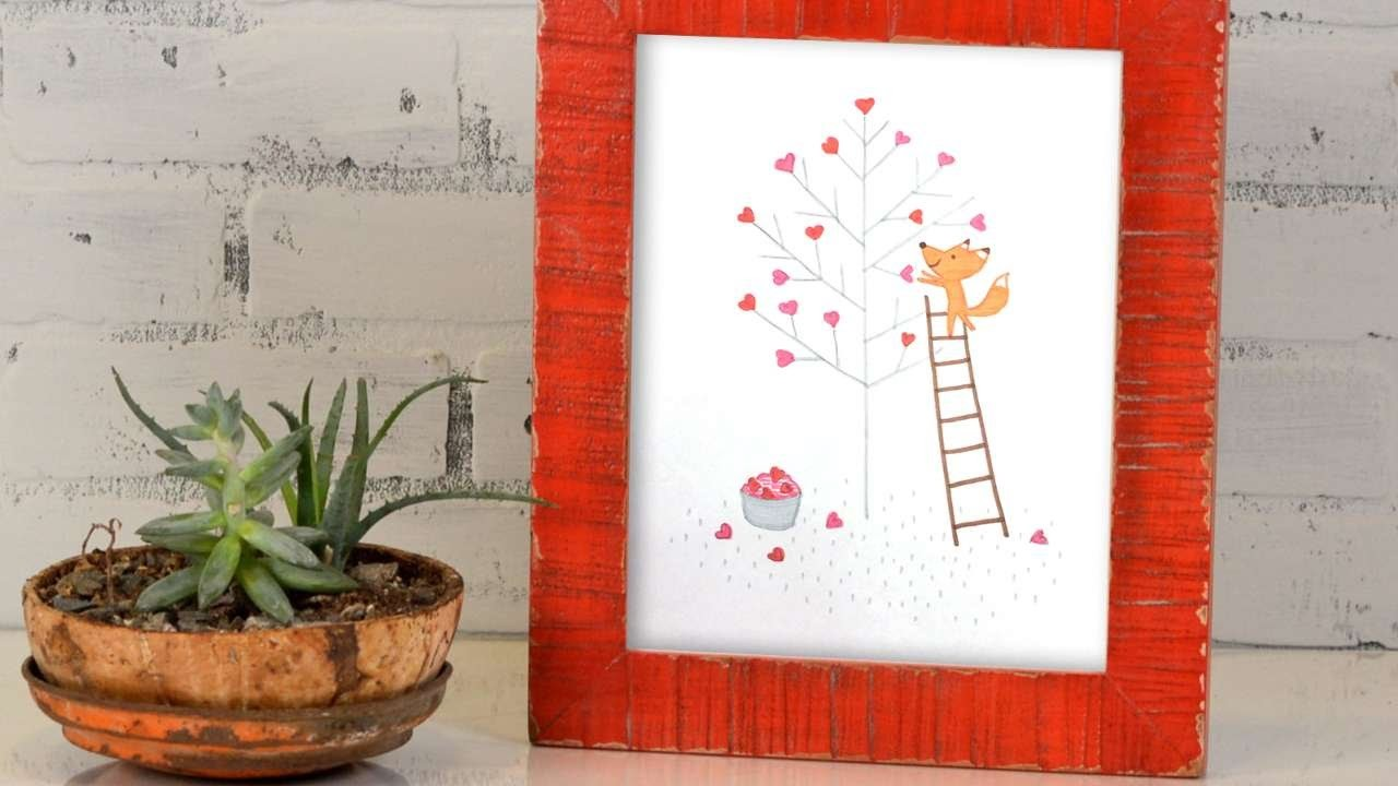 How To Make A Cute Little Fox Picture - DIY Crafts Tutorial - Guidecentral