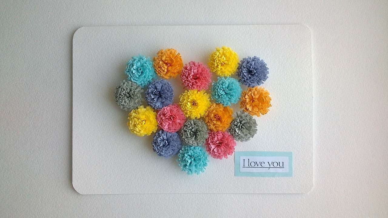 How To Make A Greeting Card With Colored Hearts - DIY Crafts Tutorial - Guidecentral