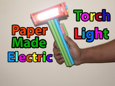 How to make a Homemade Flashlight from Paper (Torch Light) | Easy Tutorial
