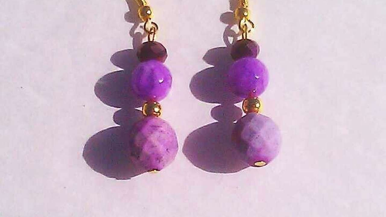 How To Make Beautiful Purple Jade Jasper Earrings - DIY Crafts Tutorial - Guidecentral