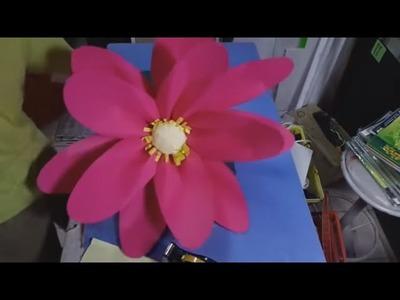 Large Paper Flowers | Large paper lotus flower | Paper Lotus
