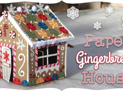 Paper Gingerbread House Tutorial! | Craftmas