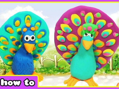 Play Doh Peacock | Easy Play Doh Videos for Children by HooplaKidz How To