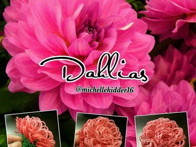 Rainbow Loom Dahlias Tutorial
