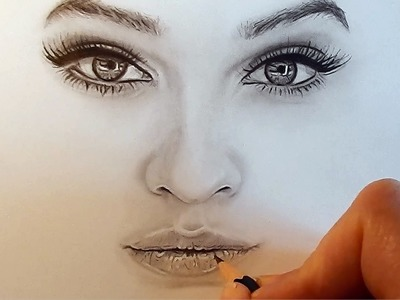 Tutorial | How to shade and draw realistic eyes, nose and lips with graphite pencils