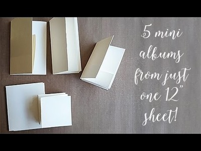 5 Mini Albums from one 12