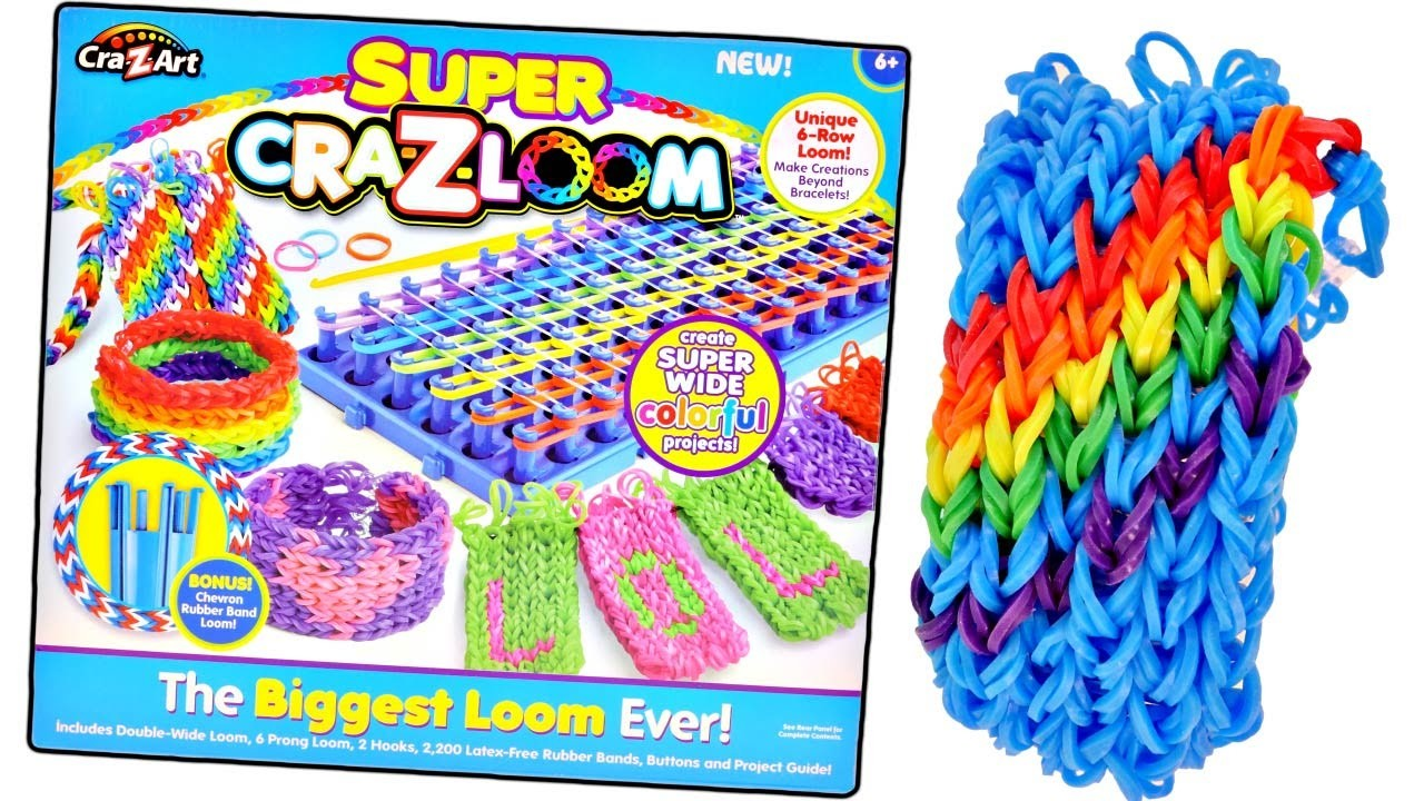 BIGGEST Craz-Loom EVER! Rainbow Loom Super Bracelet Kit by Craz-Art