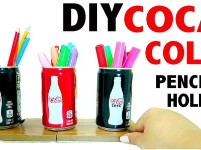 DIY 3 Mini Coca Cola Pencil Holder Desk Decor