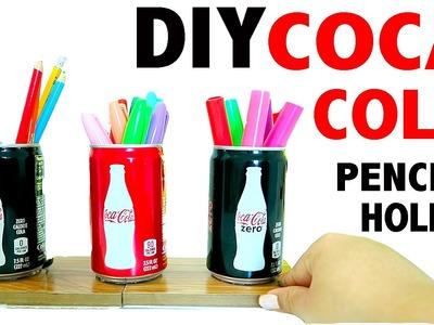 DIY 3 Mini Coca Cola Pencil Holder Desk Decor