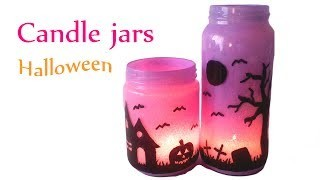 DIY crafts (Halloween decorations) CANDLE JARS, Lanterns Innova Crafts