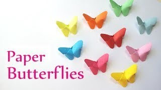 DIY crafts: Paper BUTTERFLIES (very EASY) Innova Crafts