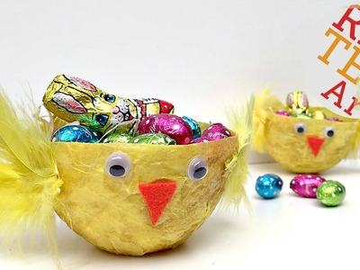 Easy Chick Easter Basket DIY